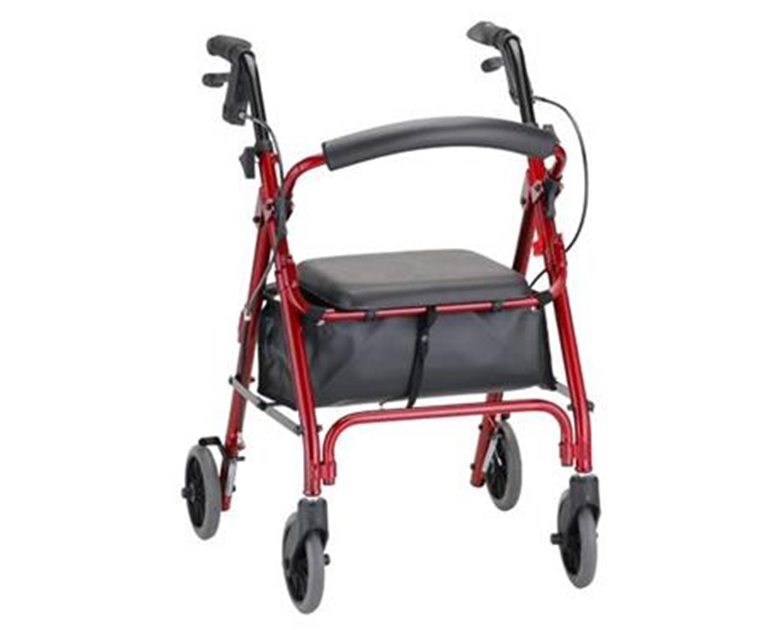 GetGO Petite Rolling Walker Red NOV4208CRD