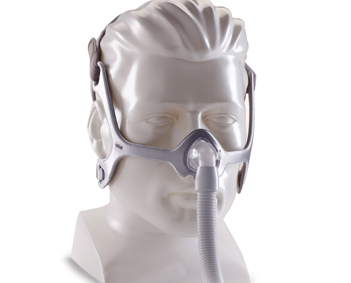 Wisp Nasal CPAP Mask with Headgear, Reversible Fabric Frame PHI1118064