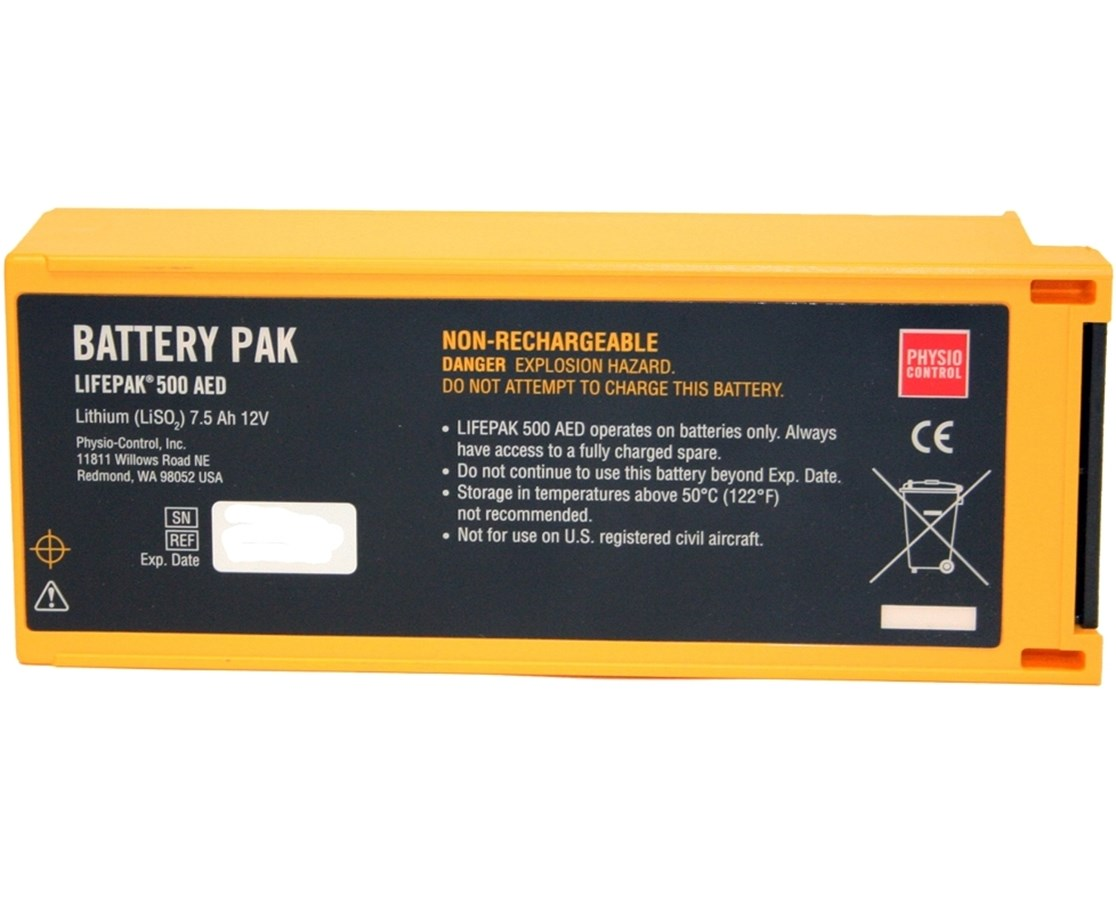 Non-Rechargeable Battery for LIFEPAK 500 PHY1141-000158