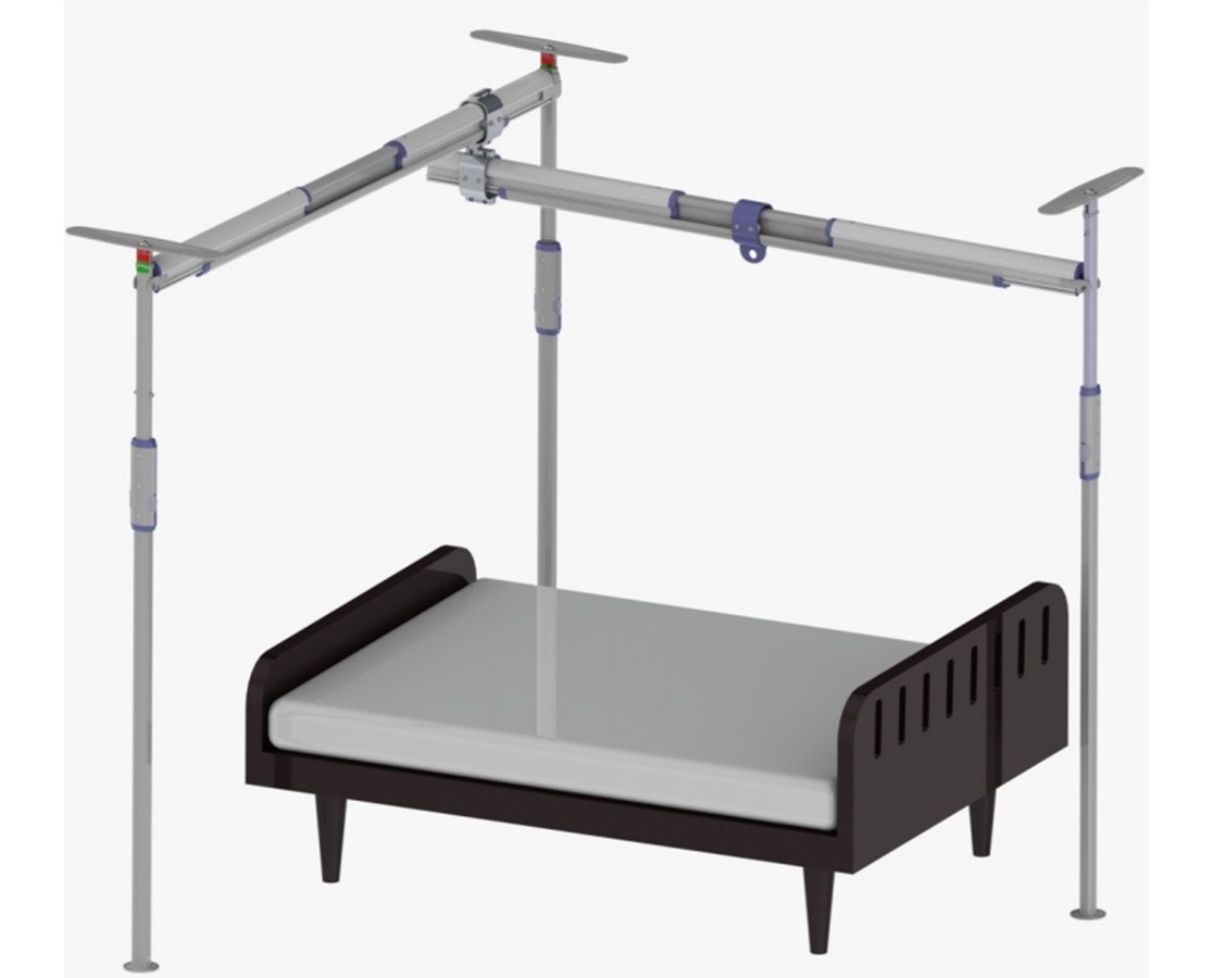 Pressure Fit 3-Post Free Standing Track System PRS341505