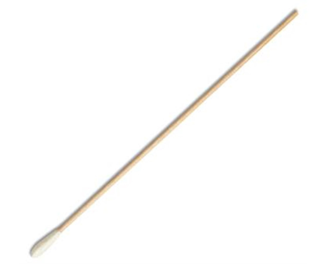 "6"" Sterile Calgiswab Calcium Alginate Tipped Applicator with Wood Handle PUR25-806 1WA-"