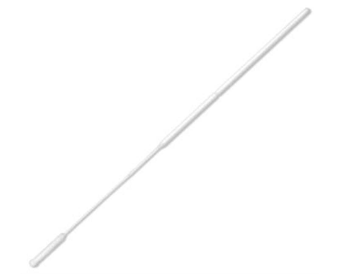 "6"" Non-Sterile Ultrafine Tip Nylon Ultra Flocked Swab with Polystyrene Handle & Molded Break Point PUR3317-U"
