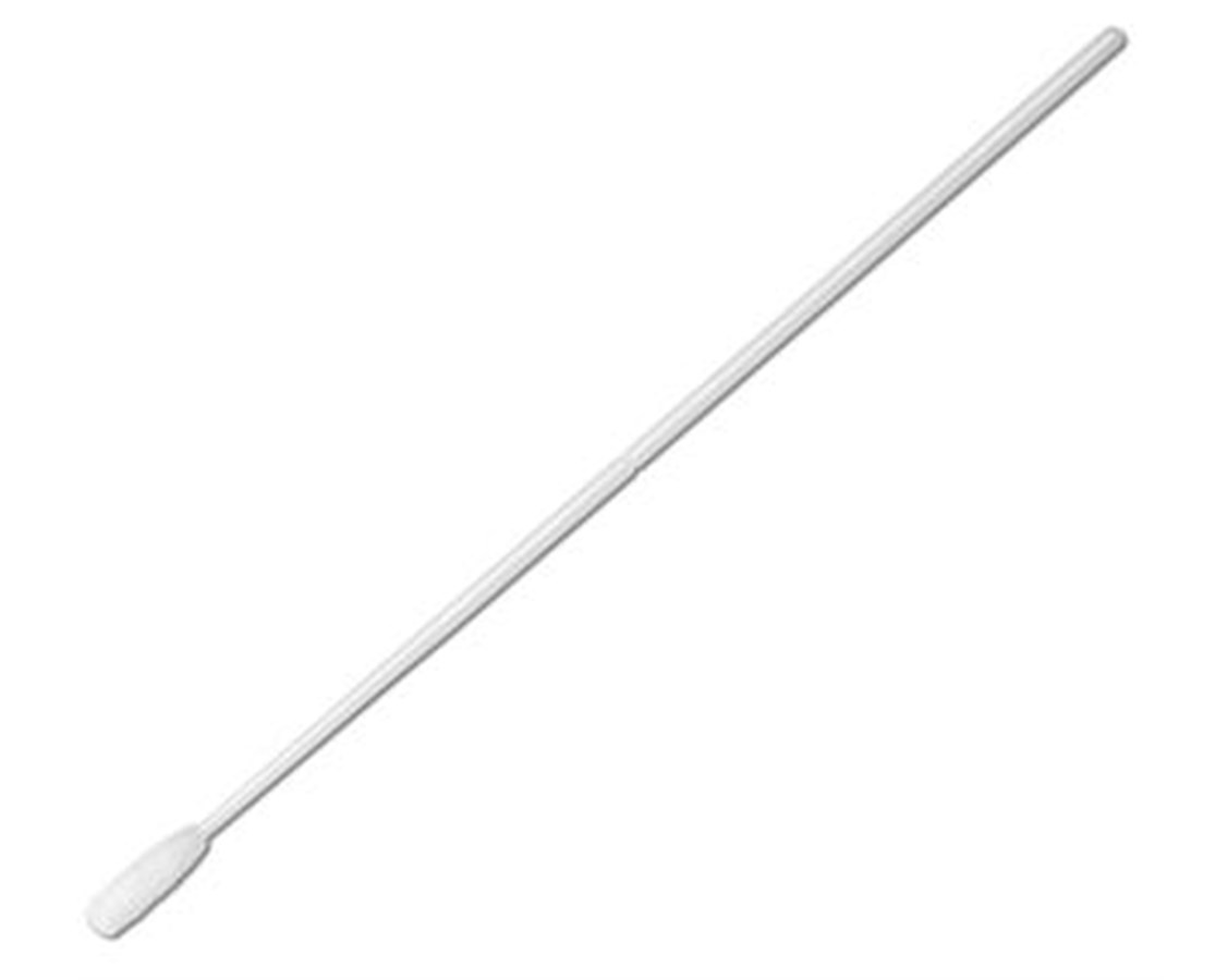 "6"" Non-Sterile Large Tip Nylon Ultra Flocked Swab with Polystyrene Handle & Molded Break Point PUR3406-U-"