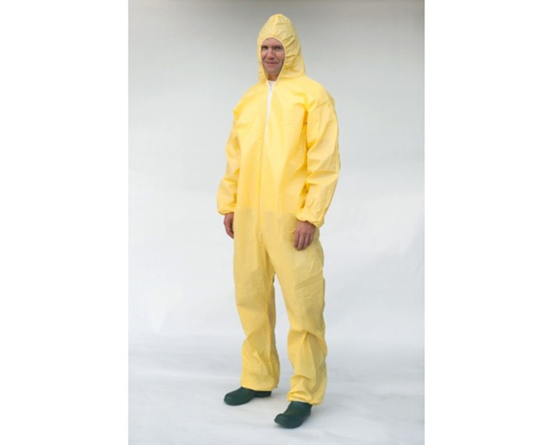 Yellow SunShield 100 Coverall with Attached Hood and Zipper Front SNTS5428