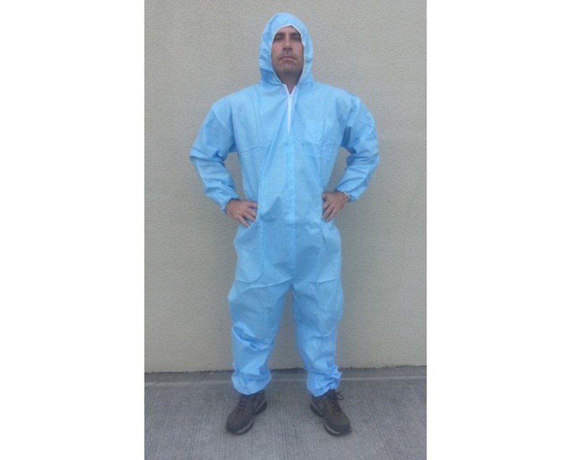 Blue Sunlite Ultra SMS Coverall with Attached Hood SNTT3131-3BL