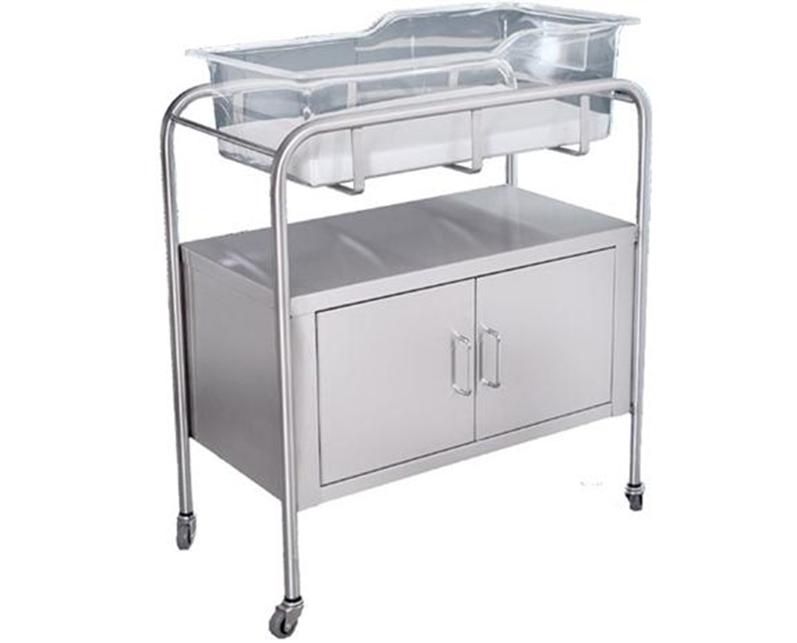 Stainless Steel Bassinet with Doors UMFSS8528