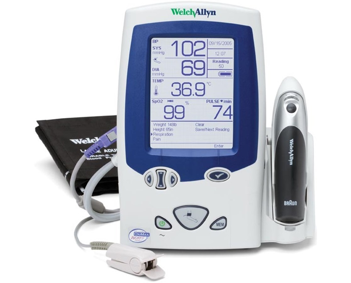 Image result for Welch Allyn Spot Vital Signs Monitor for pulse monitor.