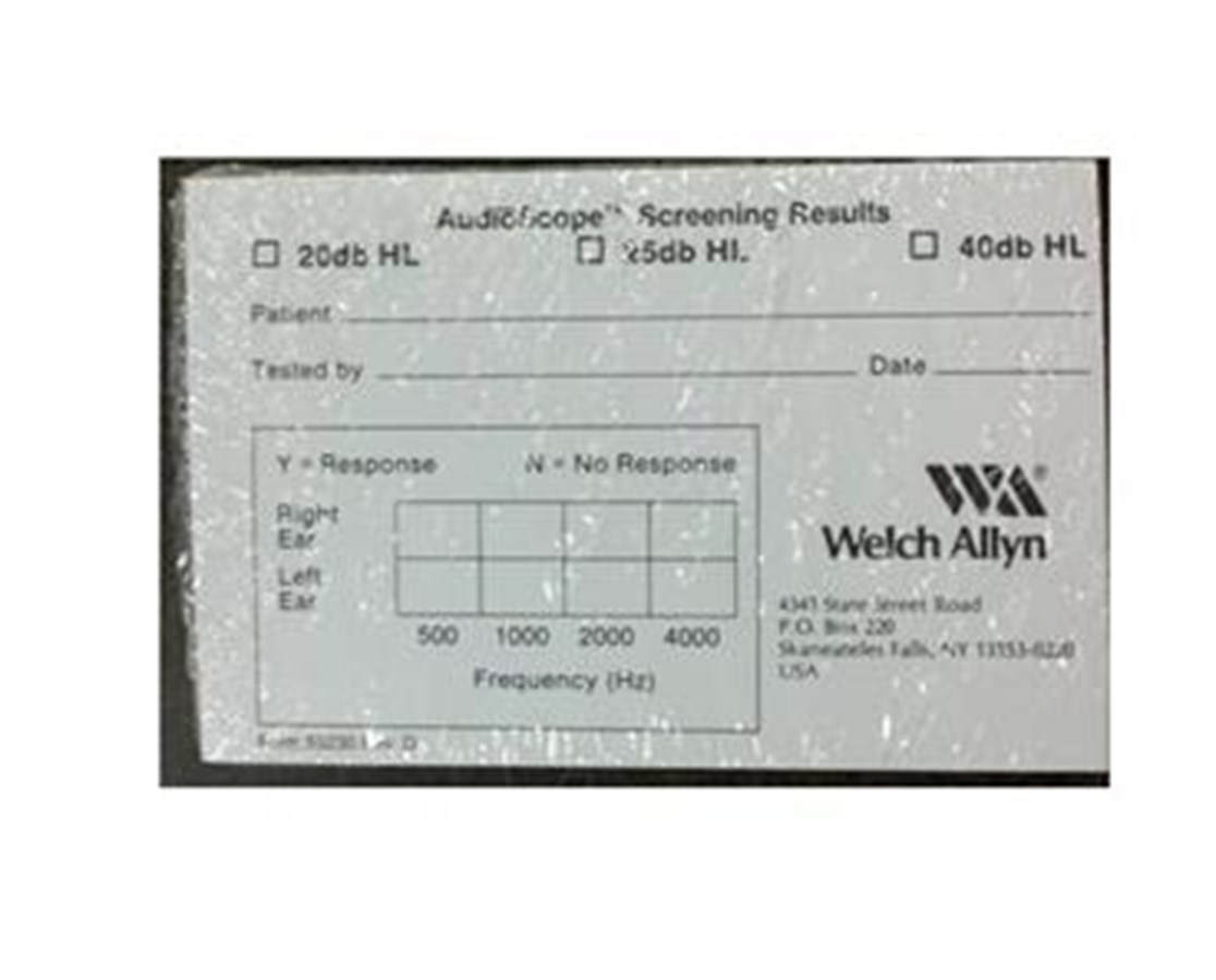 AudioScope® 3 Recording Forms WEL55230