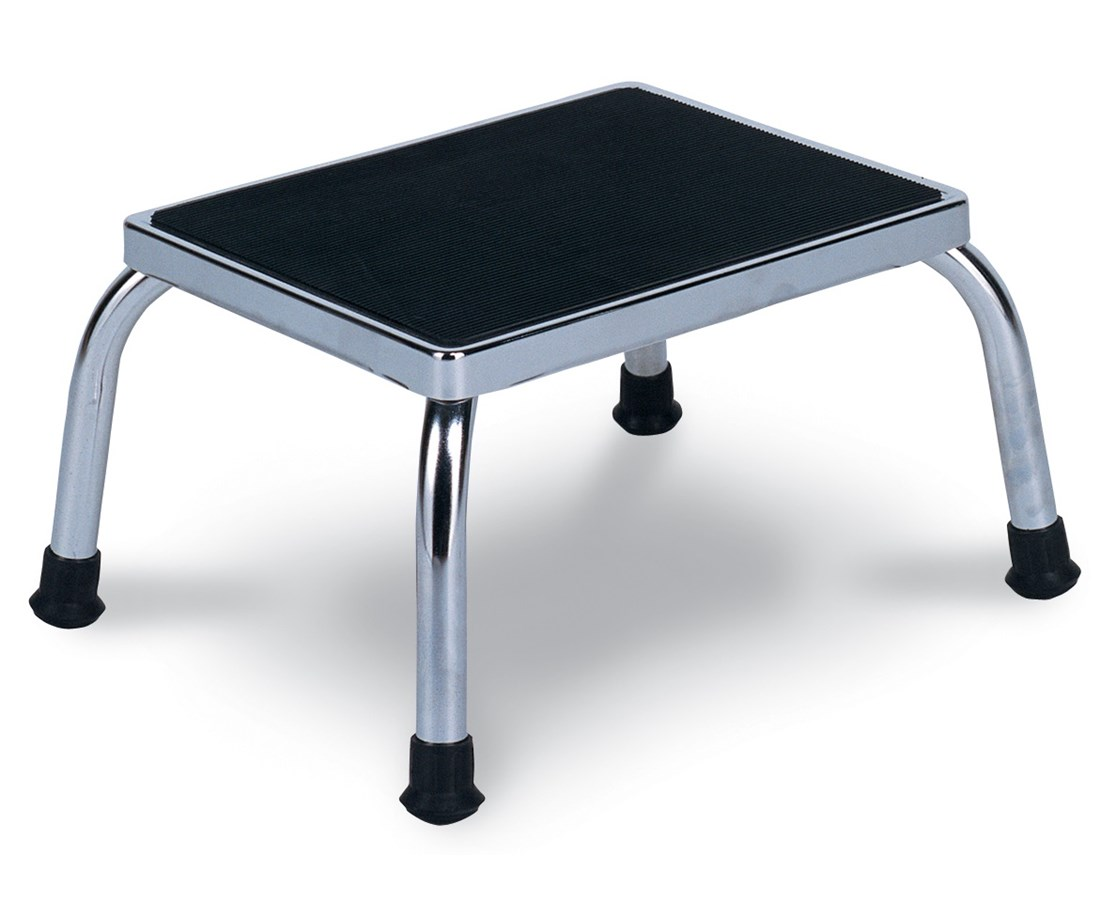 Chrome Steel Footstool WIN4220