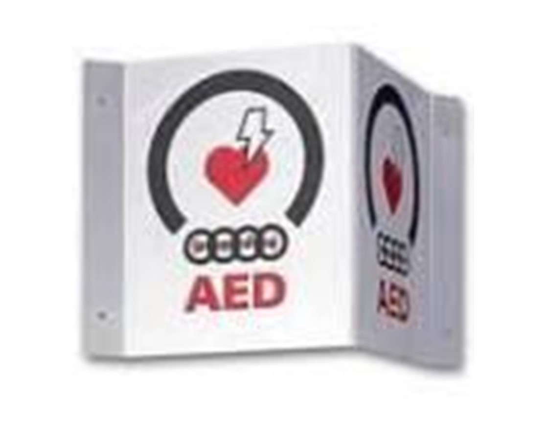 3-D V-Shape AED Wall Sign ZOL9310-0738