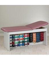 Straight Line Treatment Table with Physical Therapy Storage CLI9090