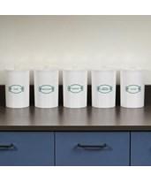 Labeled Plastic Sundry Jars CLIT-60-