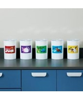 Labeled Animal Pal Kids Plastic Sundry Jars CLIT-66-
