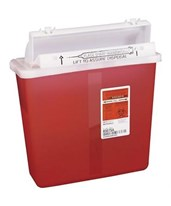 SharpStar 5 Quart, Sharps Container w/Counter Balanced Lid COV8507SA-