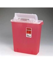 SharpStar 3 Gal. Sharps Container w/Counter Balanced Lid, 10/case COV8537SA-