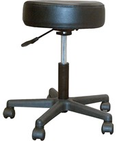 Padded Seat Revolving Pneumatic Adjustable Height Stool with Plastic Base DRI13079