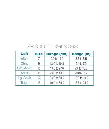 Adcuff size guide