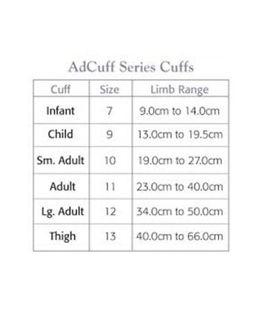 AdCuff Size Chart