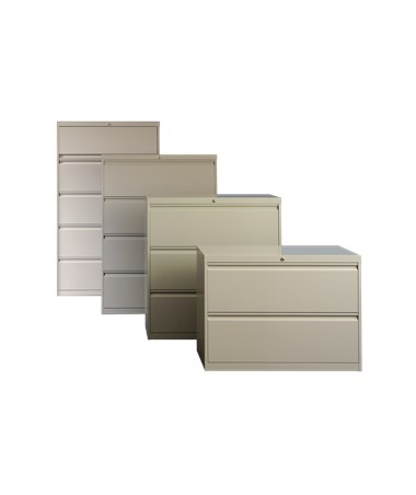800 Series Lateral File Cabinets with Door & Drawer Options ADE812-30L-