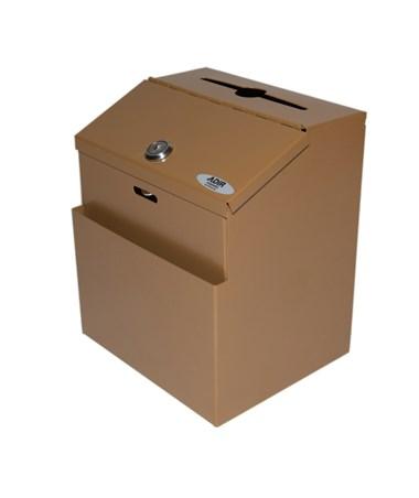 Steel Suggestion Box - Coffee ADI631-01-COP