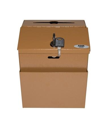 Steel Suggestion Box- Coffee ADI631-01-COP