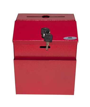 Steel Suggestion Box Red -  Front ADI631-01-RED