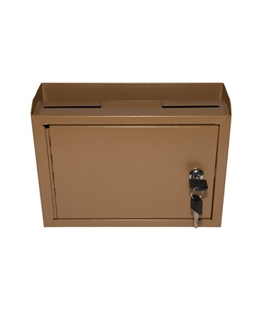 Deluxe Steel Drop Box Coffee - Front ADI631-02-