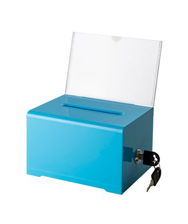 Acrylic Suggestion Boxes ADI637-BLU-