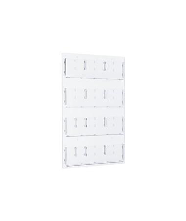 Hanging Magazine Rack with Adjustable Pockets ADI640-2948-CLR