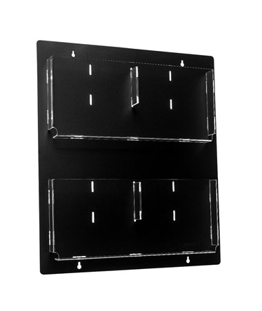 Hanging Magazine Rack with Adjustable Pockets ADI640-2023-BLK