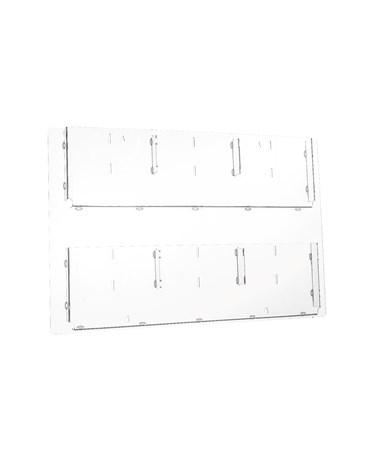 Hanging Magazine Rack with Adjustable Pockets ADI640-2923-CLR-