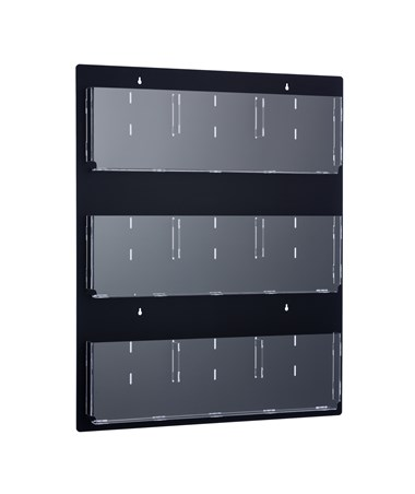 Hanging Magazine Rack with Adjustable Pockets ADI640-2935-BLK-