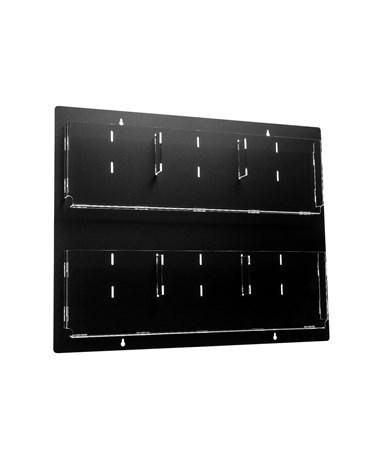 Hanging Magazine Rack with Adjustable Pockets ADI640-3020-BLK