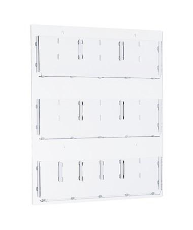 Hanging Magazine Rack with Adjustable Pockets ADI640-2935-CLR-