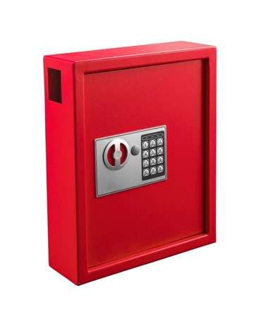 Secure 40 Key Cabinet with Digital Lock - Red ADI680-40-RED