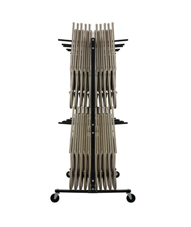 AdirOffice Two Tier Folding Chair Cart - Side View