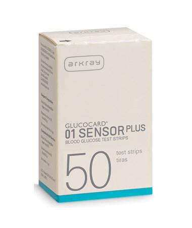 ARK740050 - GLUCOCARD 01 Sensor Plus Test Strips - Carton