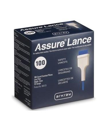 ARK980225-ASSURE Lance Lockout Safety Lancets - Assure Lance Low Flow 100 per box