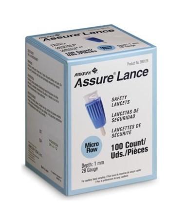 ARK980225-ASSURE Lance Lockout Safety Lancets - Assure Lance Micro Flow 100 per box