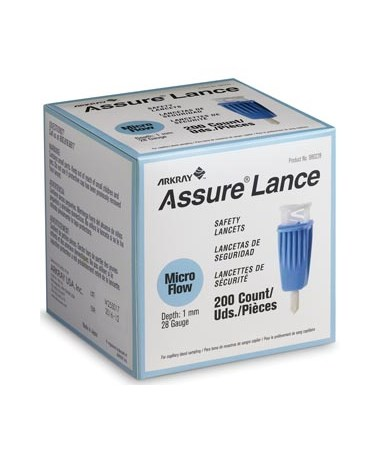 ARK980225-ASSURE Lance Lockout Safety Lancets - Assure Lance Micro Flow 200 per box