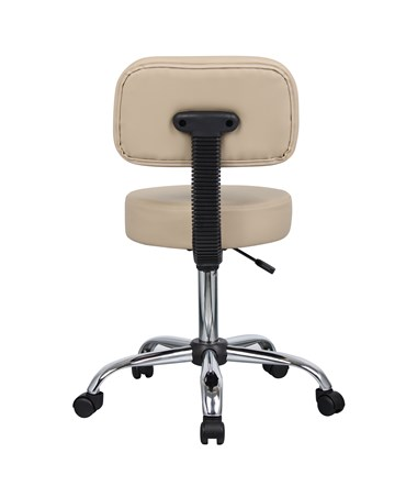 Medical Stool with Back Cushion Back View