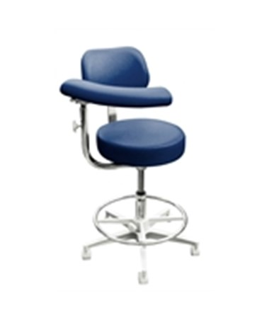 Brewer 2000 Series Dental Stool with Backrest and Left Body Support