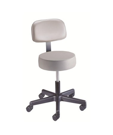 """Brewer 22400 Spin Lift Exam Stool with Back Rest"""