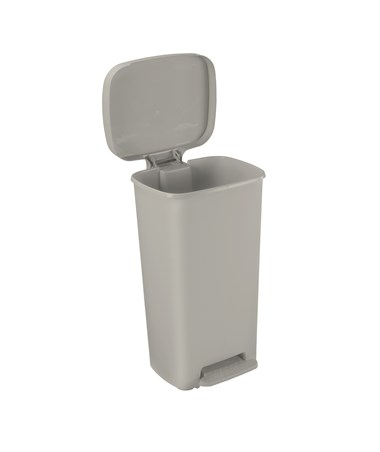 """Brewer 25268 Rectangular Plastic Waste Cans, 52 quart, Beige"""