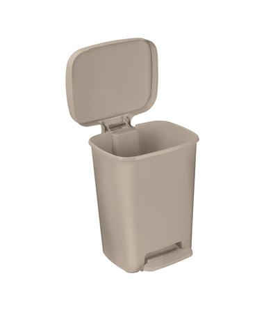 """Brewer 25271 Rectangular Plastic Waste Cans, 32 quart, Beige"""