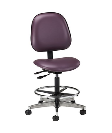 Lab Stool with Contour Seat and Backrest CLI2166W