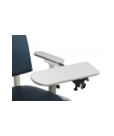 667 ClintonClean Solid Plastic Armrest, StationaryArmrest, Angled Flip Arm(s)