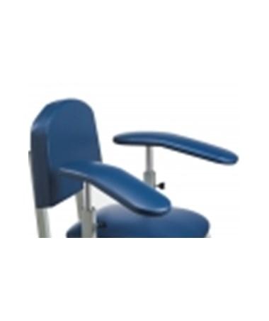 664 Upholstered Padded Armrest, Rotating Armrest, Straight & Sloped Arms