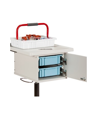 CLI67200 Two-Bin Phlebotomy Cart - Two trays