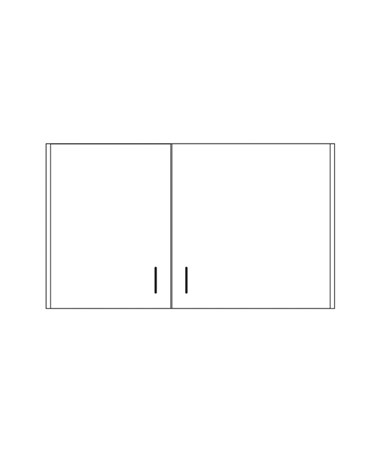 CLI8236-P- Clintonclean™ Wall Cabinet with 2 Doors - 8242-P Wall Cabinet